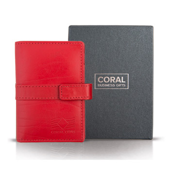 Kaufen Business card holder leather red