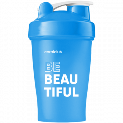 Shaker Coral Club Be beautiful 400 ml blau