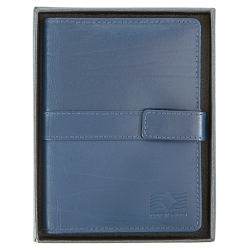 Business card holder leather blue
