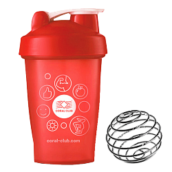 Coral Club Shaker 400 ml rot