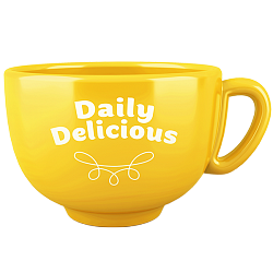 Tasse Daily Delicious, gelb (Europa)