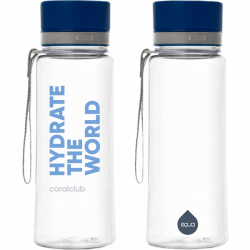 "EQUA Plastikflasche ""Hydrate the world"" 600 ml"