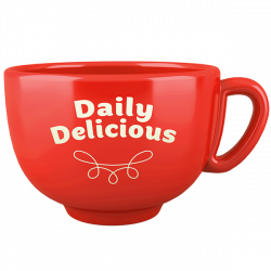 Tasse Daily Delicious, rot