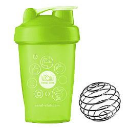 Coral Club Shaker 400 ml, hellgrün